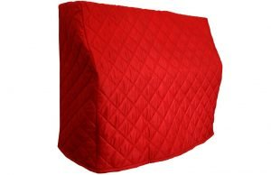 Red Upright Piano Cover