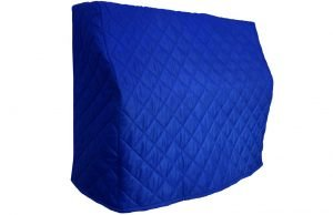 Royal Blue Upright Piano Cover